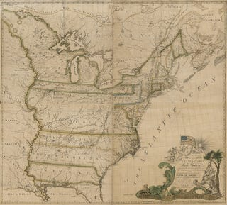Illustration for article titled The First U.S. Map That Was Made By A U.S. Citizen