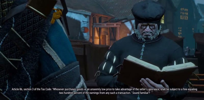 Illustration for article titled Witcher 3 Sends Taxman After Players Who Used Exploit