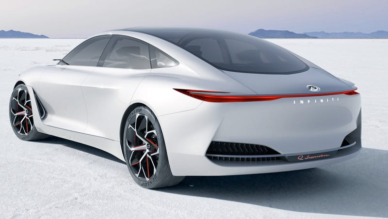 Illustration for article titled The Infiniti Q Inspiration Concept Is The Sleek Future Of The Sedan