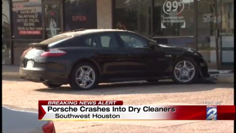 Illustration for article titled Panamera Makes Dry Cleaners Messy
