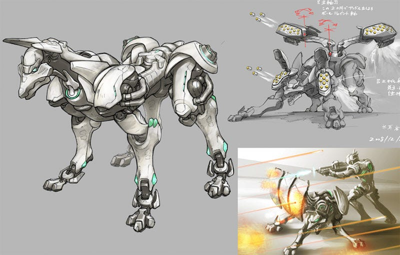 Illustration for article titled The Killer Robot Dog That Almost Made It Into Vanquish