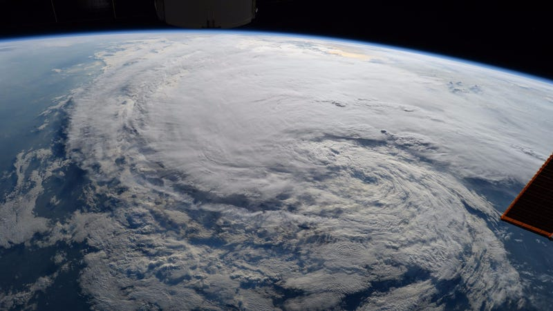 Hurricane Harvey, as seen from low-Earth orbit.