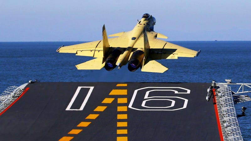 Illustration for article titled China's J-15 Flying Sharks Are Actually Russian Knockoffs
