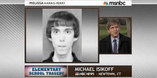 Sandy Hook shooter Adam Lanza; reporter Michael Isikoff (MSNBC)