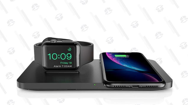 Get Over Your AirPower Heartbreak With This $20 Qi Pad and Apple Watch Stand