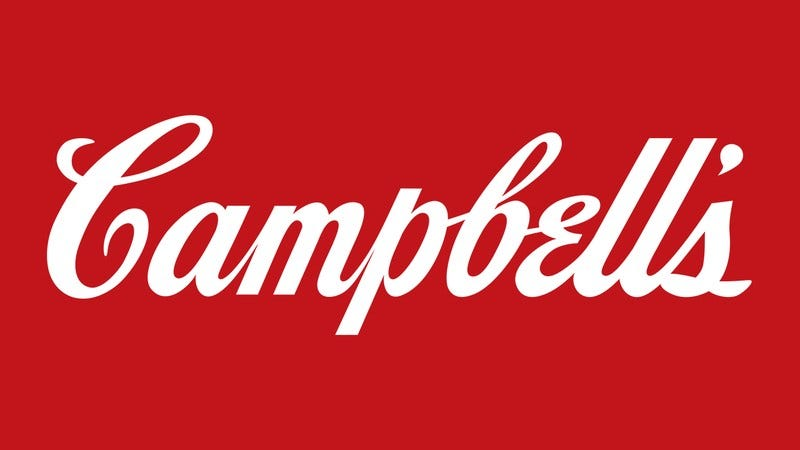 The Campbell's soup logo.