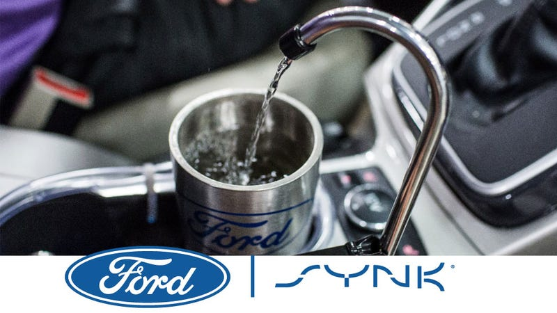 Illustration for article titled Ford Made A System To Bring Drinking Water From Your Air Conditioning To A Tap In Your Car