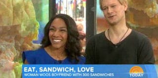 New York Post reporter Stephanie Smith and boyfriend, Eric Schulte on the Today Show (The Today Show screenshot)