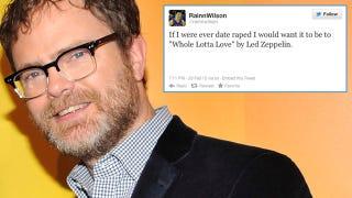 Illustration for article titled Rainn Wilson Makes Very Unfunny Date Rape Joke, Pisses Everyone Off [UPDATED]