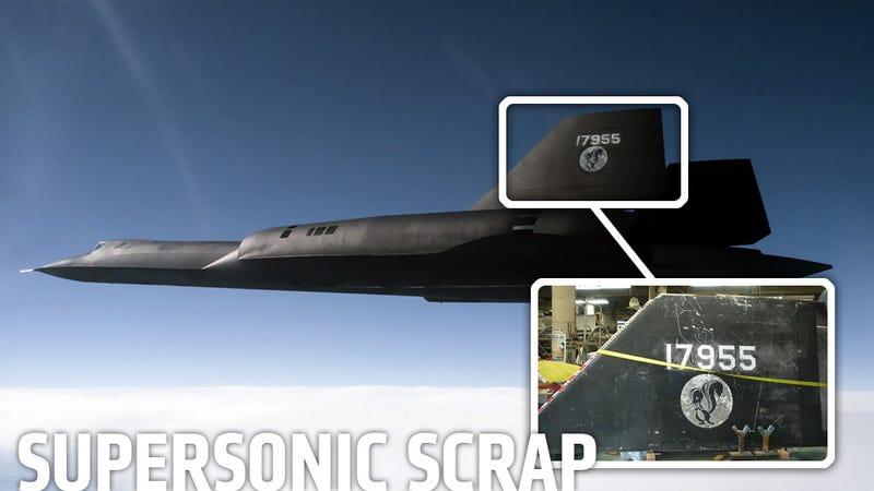 An SR-71 Blackbird Tail Fin Is For Sale On eBay For $1 Million