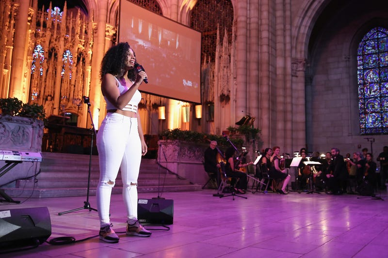 Dancer Chloe Arnold of Syncopated Ladies by Chloe Arnold speaks during Global Citizen - Breaking the Silence: Beyond the Dream at Riverside Church on September 17, 2017, in New York City.