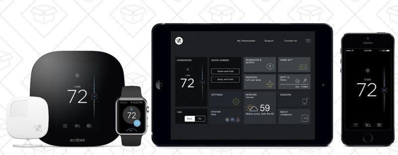 Termostato Ecobee3 Smart Thermostat, $199