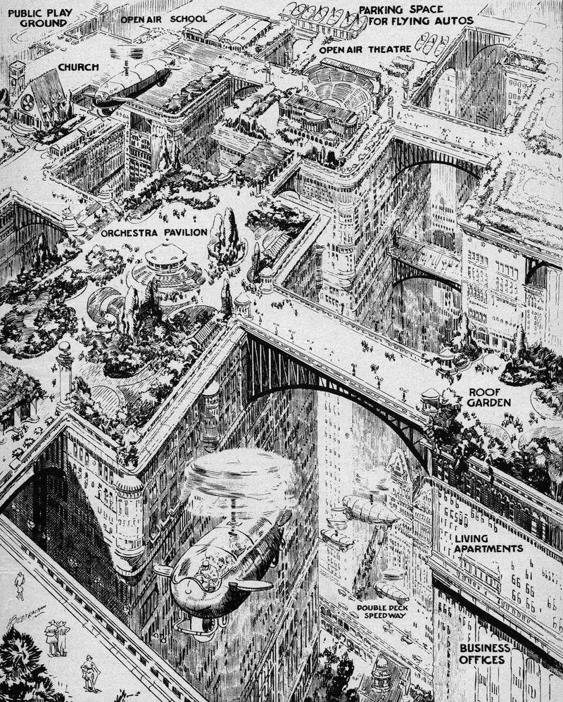 Así se imaginaban las ciudades del futuro en 1923