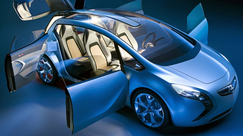 This is the Opel Flextreme diesel concept car from 2007, the same year the EU published its loophole allowing Opel's defeat device.