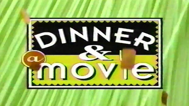 Illustration for article titled TBS' Dinner And A Movie sure did have a way with food-based movie puns