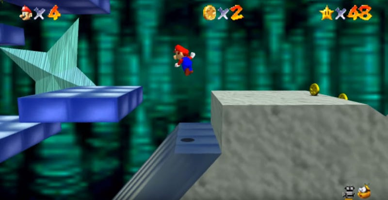 Illustration for article titled Here's Super Mario 64 Running At 60FPS In Widescreen HD
