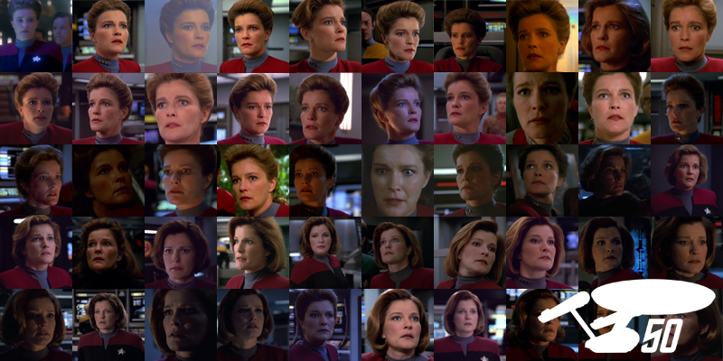 Illustration for article titled An Appreciative Gallery ofVoyager'sCaptain Janeway, Looking Shocked