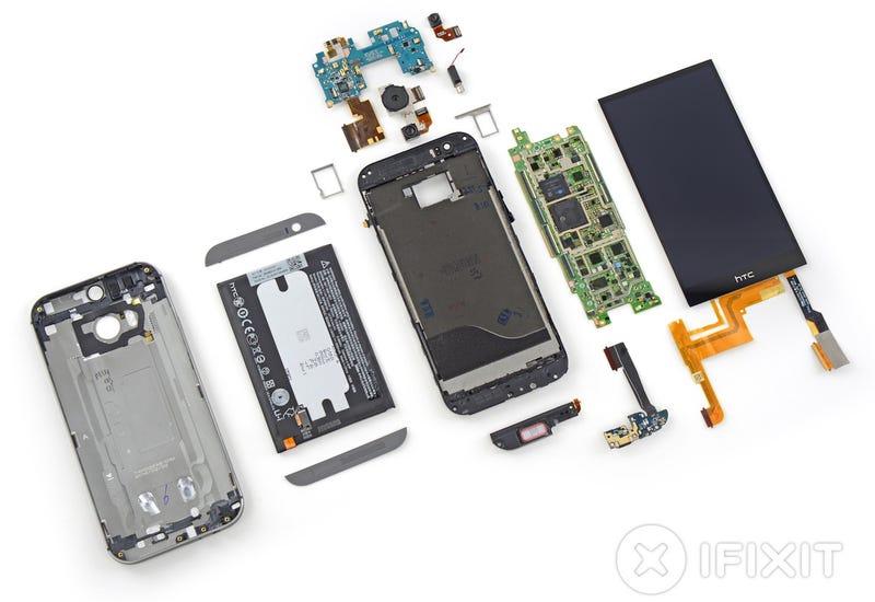 Illustration for article titled El nuevo HTC One M8 es casi imposible de reparar