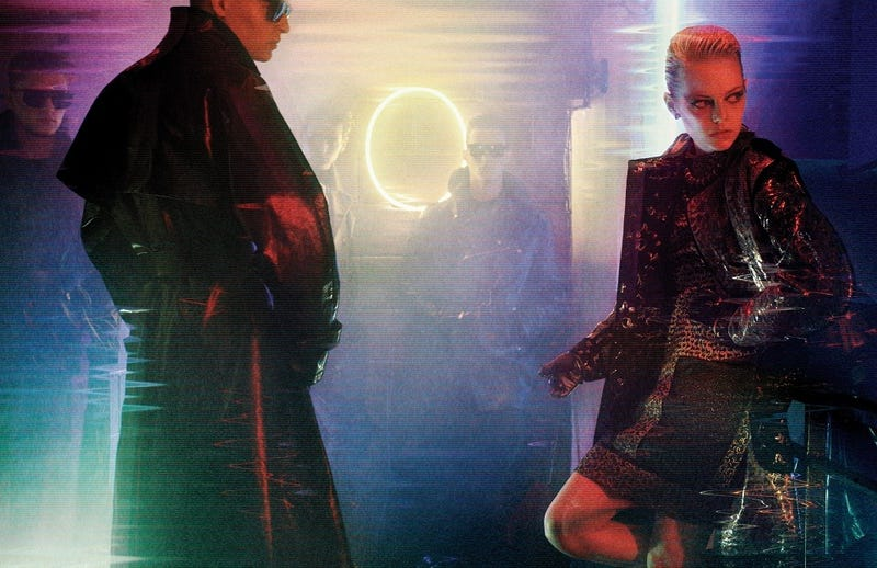 Illustration for article titled Emma Stone pays tribute to Blade Runner with stunning photoshoot