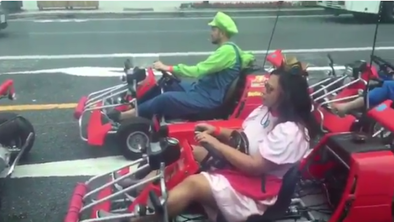 Hugh Jackman Happens Upon Real Life 'Mario Kart' Race in Japan