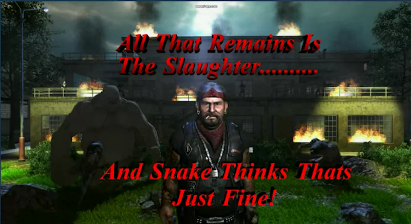 A screenshot from Digital Homicide's video game The Slaughtering Grounds