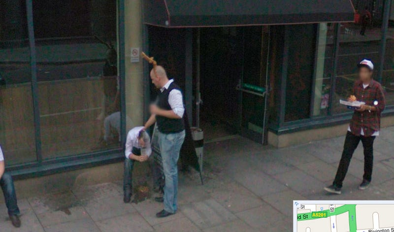 Illustration for article titled Google Streetview Captures British People Drunkenly Vomiting