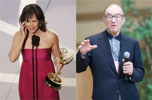 Illustration for article titled Sally Field, Alan Greenspan Weigh In On War, Politics. Who's More Right?