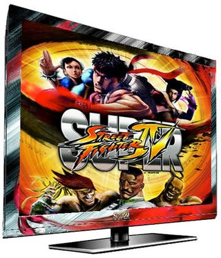 Illustration for article titled Finally, an Officially-Licensed Street Fighter IV HDTV
