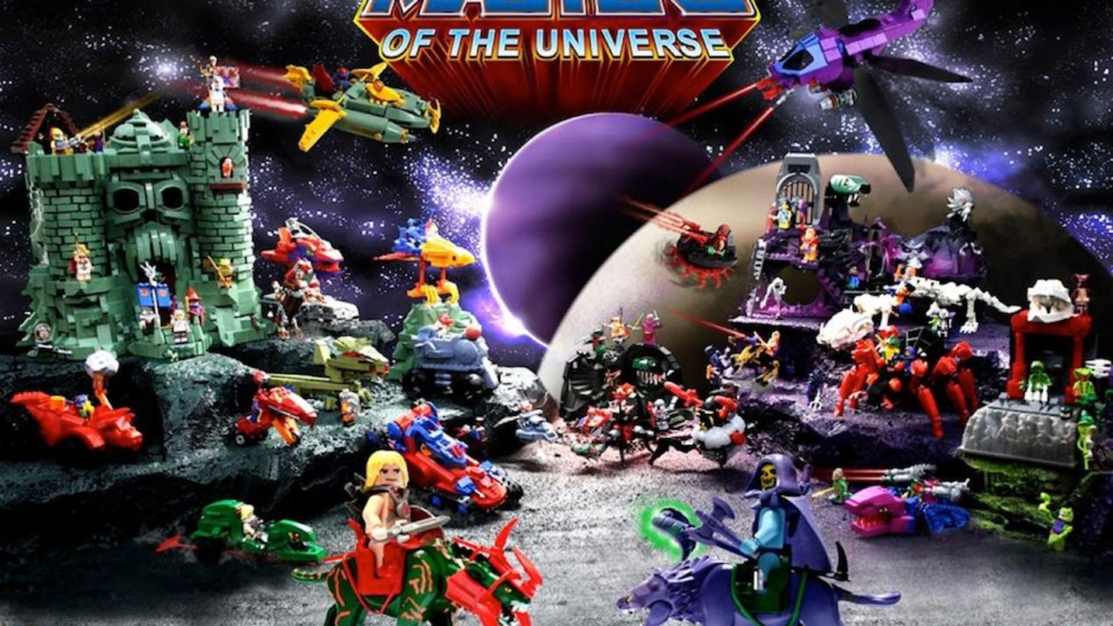 This massive Lego Masters of the Universe line needs to be real