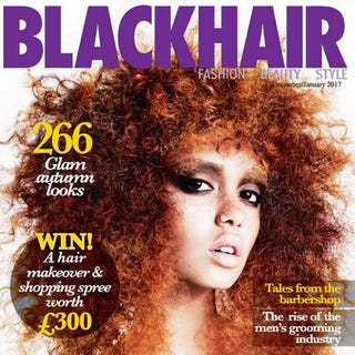 The December/January 2017 cover of Blackhair magazineFacebook