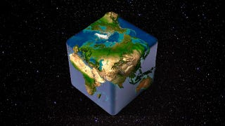 Illustration for article titled How Gravity Would Be Different If the World Were a Cube