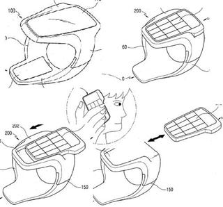 Illustration for article titled Samsung Applies for Patent for Clever Two-Piece Wrist Cellphone