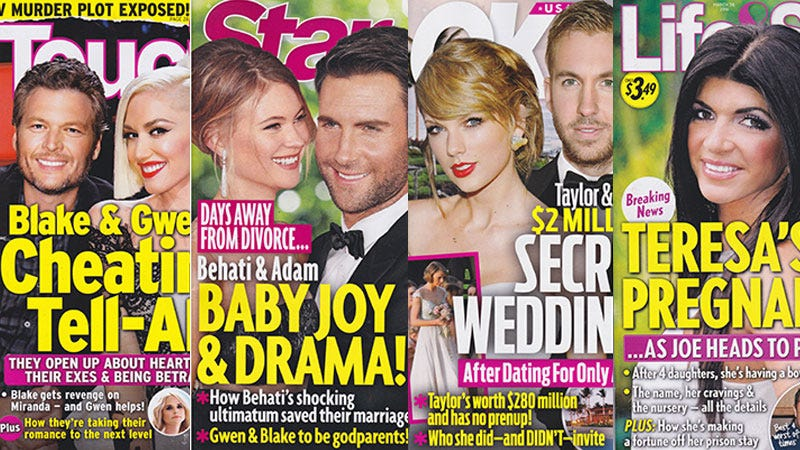 Illustration for article titled This Week In Tabloids: Taylor Swift & Calvin Harris Will Marry Soon, Whether We Like It Or Not