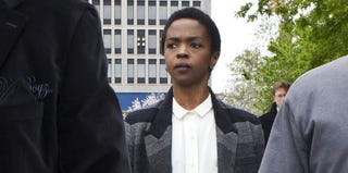 Lauryn Hill attending court in Newark, N.J., on April 22, 2013. (Kena Betancur/Getty Images)