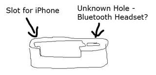 Illustration for article titled Leaked: The Apple iPhone Dock With Bluetooth Headset Hole