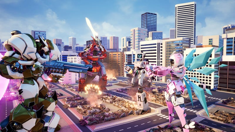 Illustration for article titled Giant Mech Fighting Game Will Crush Cities Underfoot