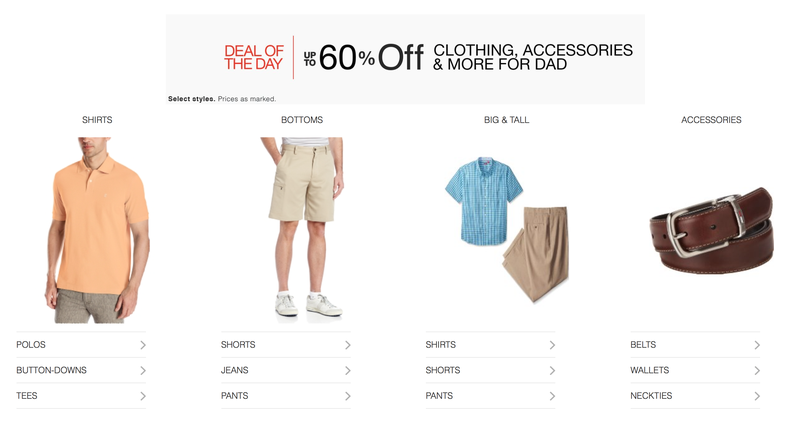Father's Day Clothing Gold Box