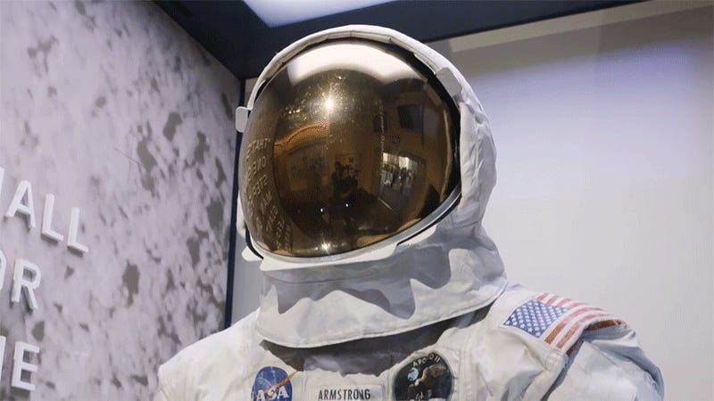 How the Smithsonian Prevents Neil Armstrong's Spacesuit From Slowly Destroying Itself With Harmful Gases