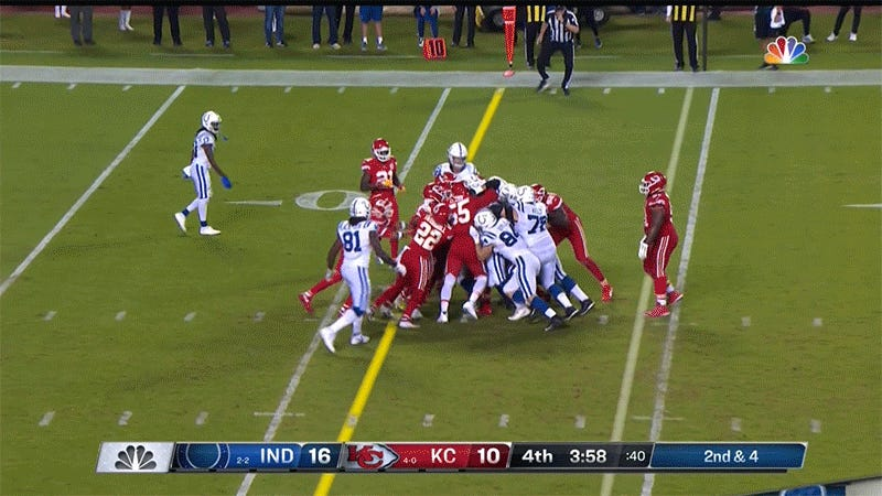 The Colts Will Spend Today Picking The Chiefs Out Of Their Treads