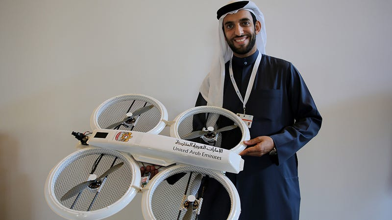 Illustration for article titled Dubai's Drone Delivery Idea Might Be Slightly Less Crazy Than Amazon's