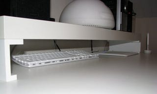 Illustration for article titled Turn an IKEA Shelf and Picture Ledge into a Monitor Stand