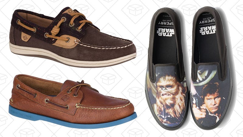 2 pares de zapatos | $119 | Sperry | Usa el código KINJAColección de Star Wars | $35 | Sperry | Usa el código THEFORCE