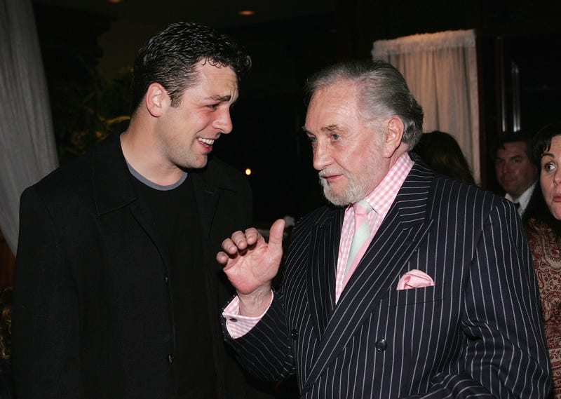 The late Roy Dotrice (right) with actor Chris McKenna (Photo: Frederick M. Brown/Getty Images)