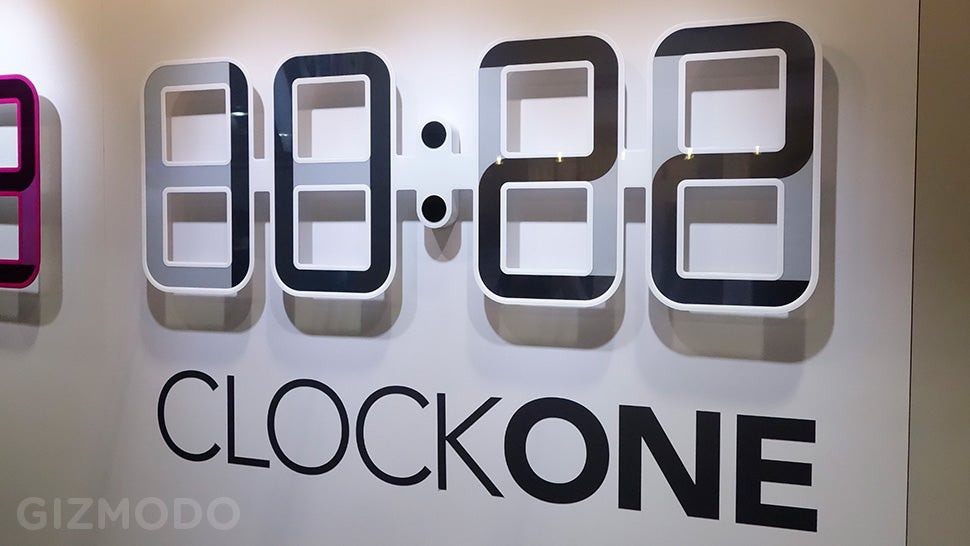 A Giant eInk Digital Clock Powered By a Tiny Watch Battery