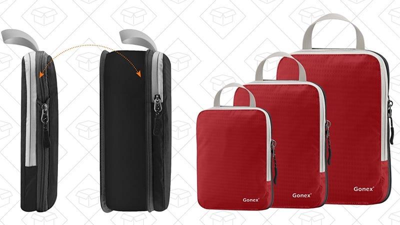 Gonex Expandable Packing Cubes | $13 | Amazon | Promo code 5EBI4HRF