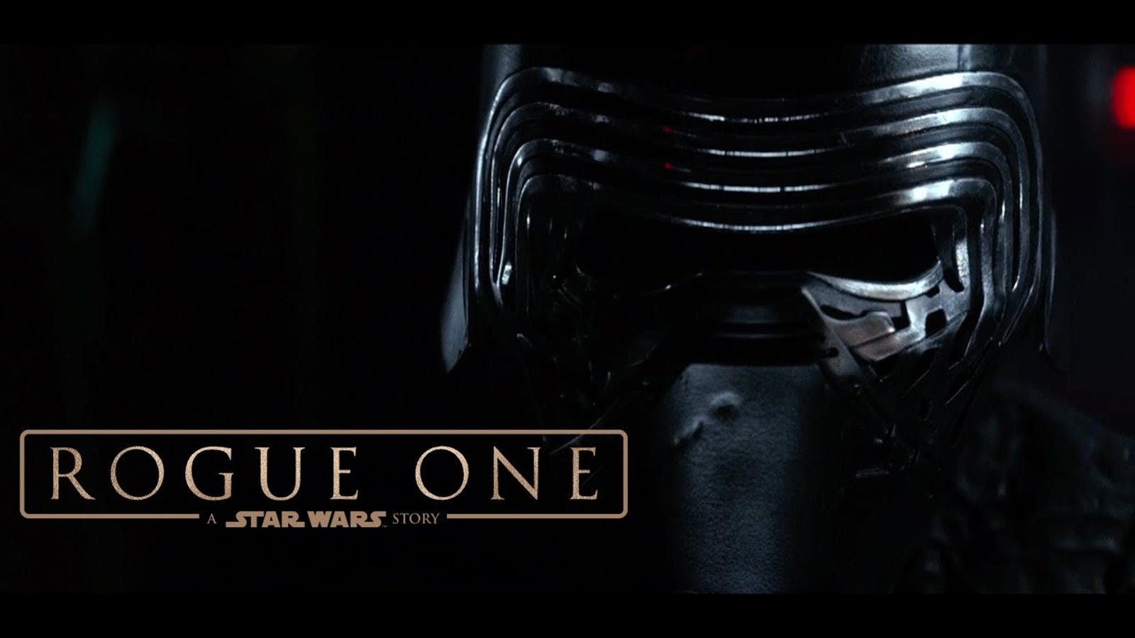 Kylo Ren Loses It While Watching the Rogue One Trailer