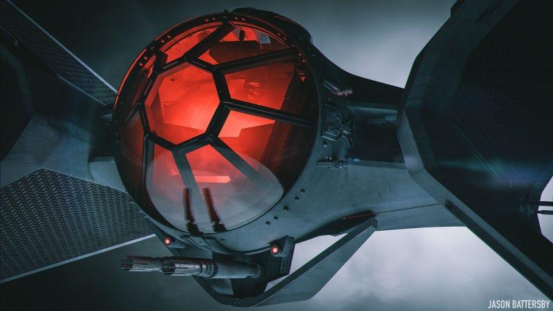Illustration for article titled Esta preciosidad es lo que ocurre cuando un diseñador de coches de alta gama crea una nave para Star Wars