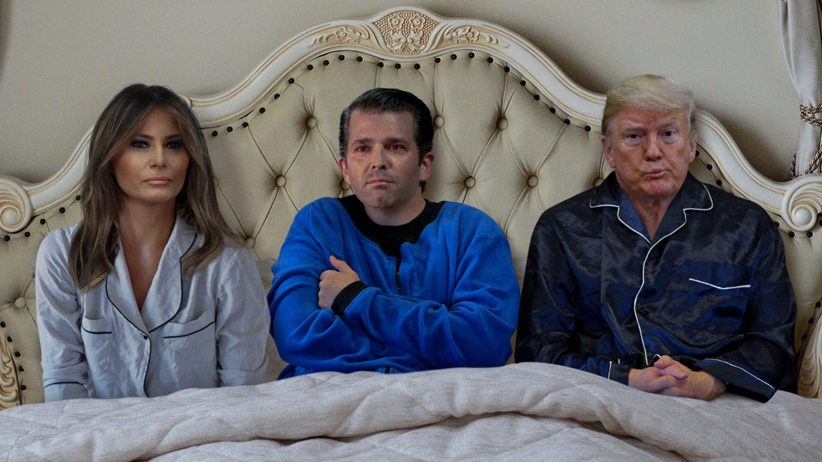Frightened Don Jr. Asks If He Can Sleep In Dad's Bed After Bad Dream About Being Indicted