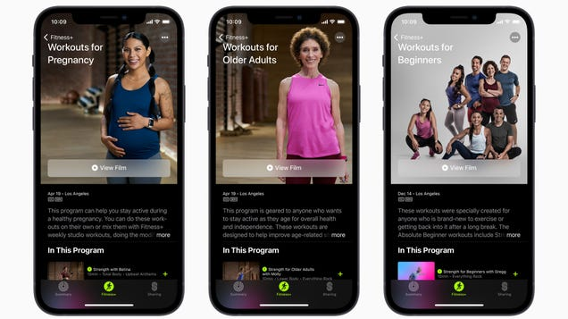 Apple s Fitness+ Adds Workouts for Pregnant People and Older Adults
