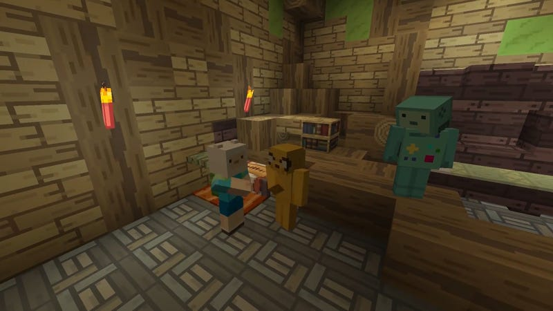 Illustration for article titled It's Adventure Time In Minecraft